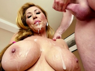 Bigtitted MILF throatfucked POV style