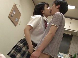 Exotic Japanese whore Minami Kashii, Reina Sasaki, Mahiro Yukino in Amazing couple, college JAV video