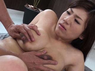 Busty housewife, Satomi Katayama got nailed, uncensored