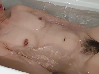 Japanese Wife Taking a Bath