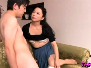 Cum-hole and tit play for a sexy mature japanese babe
