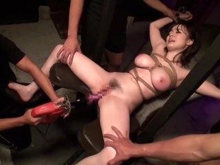 JAV Busty Babe Tied Fetish Toys Blowbang Aimi FULL