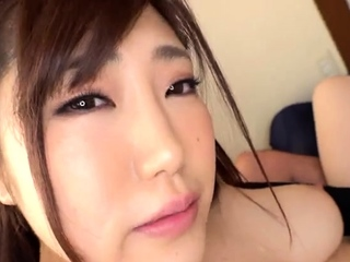 Japanese teen takes two swollen cocks