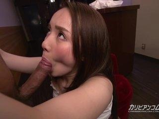 Misuzu Tachibana - Waitress fucks colleague - japanese uncensored jav pantyhose heels nylon pale brunette