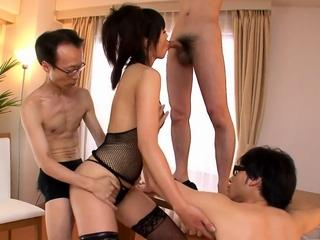 Three guys get a japanese g- More at Japanesemamas.com