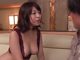 Milf in heats Wakaba Onoue amazing sex in bedroom with son