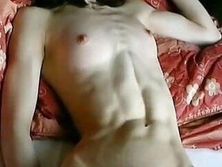 Japanese woman with Orgasmic Abs