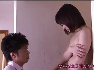 Japanese mom tight asshole toy stimulated and fucked doggyst